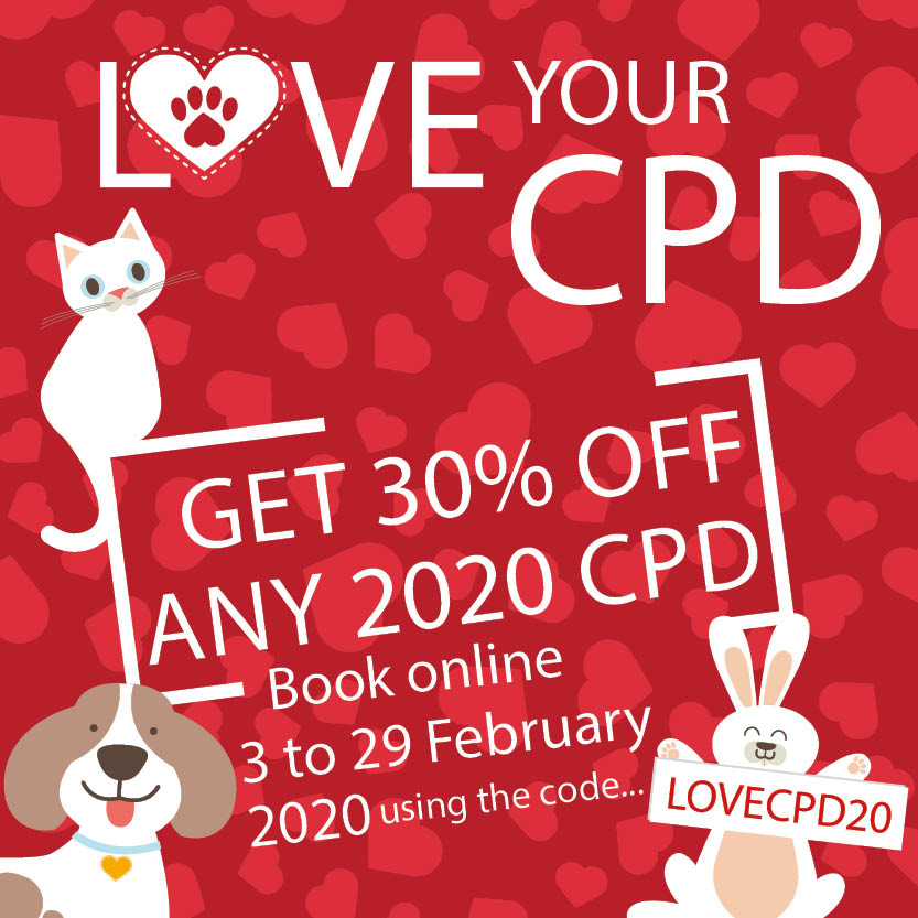 Valentines Day 2020 Sale on Veterinary CPD
